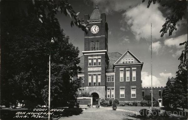 Court House - Iron Mountain, Mich. Michigan