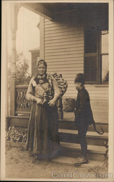 Mother and Son in Costume? Unidentified People