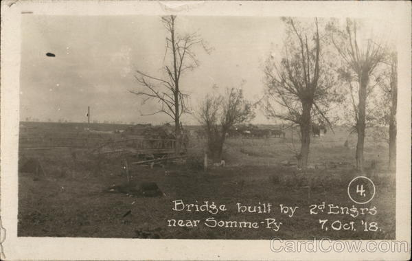 Bridge Built by 2d Engineers Near Somme-Py Sommepy-Tahure France