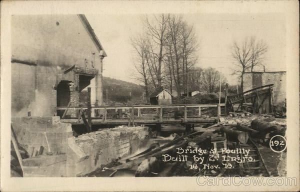 Bridge at Pouilly Built by 2nd Engrs 14 Nov 78 France