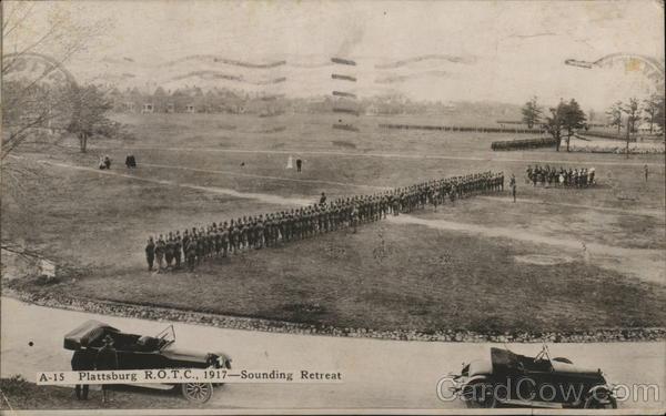 Plattsburg ROTC 1917-Sounding Retreat Military