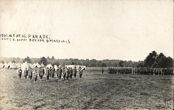 Regimental Parade Camp C F Ropes 1915 Boxford Massachusetts