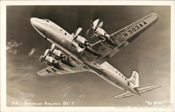 American Airlines DC7 Aircraft