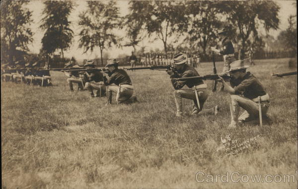 Soldiers Firing Rifles F. H. Wagner People in Uniform
