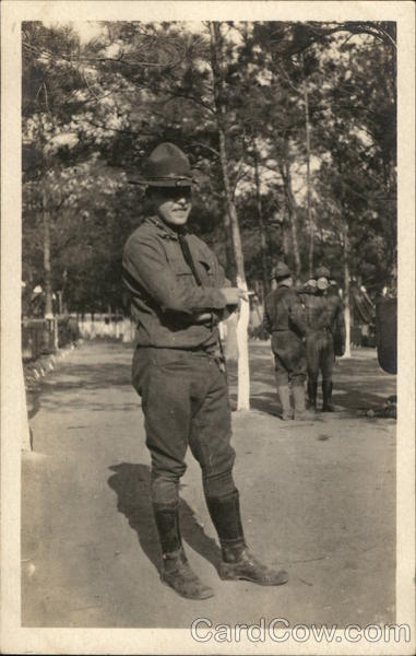 Soldier Posing in Camp People in Uniform