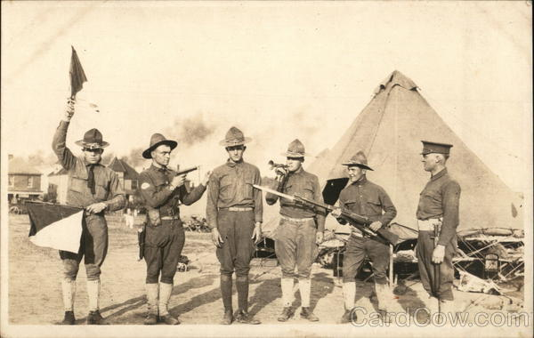 Military Men with Various Weapons