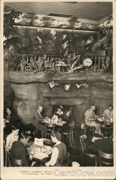 Clifton's Brookdale Cafeteria Los Angeles California
