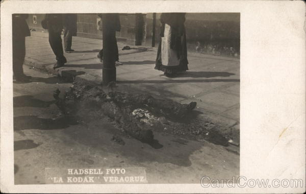 Burned Body, Veracruz 1914 Mexico