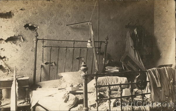 Damage in a Bedroom - Veracruz 1914 Mexico Military