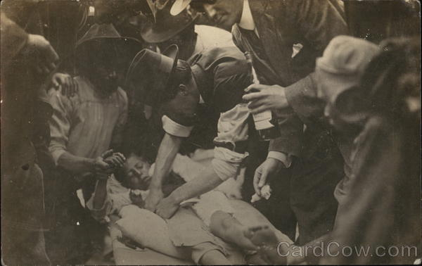 People Tending to a Wounded Boy During the Mexican Civil Wars at Vera Cruz 1914 Veracruz Mexico
