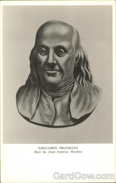 Bust of Benjamin Franklin by Jean Antoine Houdon Political