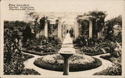 The garden - Hotel Pilgrim - Plymouth, Mass.