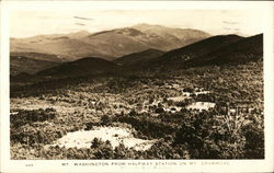 Mt. Washington from Halfway Station on Mt Cranmore Postcard