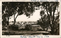 View of Perth from King's Park, W.A. Postcard