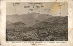 Presidential Range from Mt. Cranmore Postcard