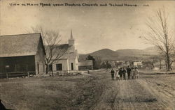 View on Main Road from Baptist Church and School House