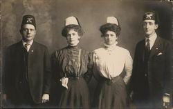 Men with Shriner's Hats and Their Wives