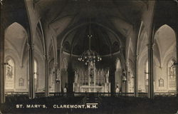 St. Mary's, Claremont, N.H. Postcard