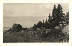 Overlooking the Village - Monhegan, Maine