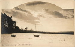 Lake Wickaboag, West Brookfield Postcard