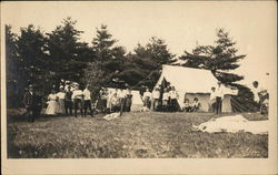 Camp at Lake Wickaboag Postcard