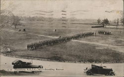 Plattsburg ROTC 1917-Sounding Retreat