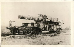 Huge German gun on Railroad Car