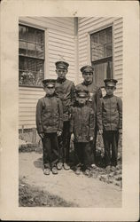 Snapshot of Five Boys in Uniform