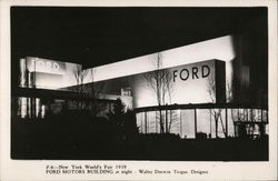 Ford Motors Building at Night, New York World's Fair