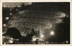 Symphonies under the stars - Hollywood Bowl - Hollywood, Cal. Postcard