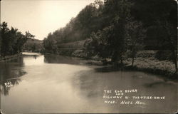 The Elk River and Highway 91 - The Prize Drive near Noel MO Postcard