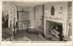 The Washington Room, Longfellow's Wayside Inn Postcard