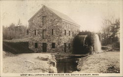 Grist Mill - Longfellow's Wayside Inn, South Sudbury, Mass.