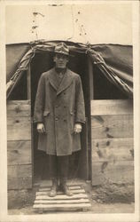 Soldier Posing at the Entrance to a Tent
