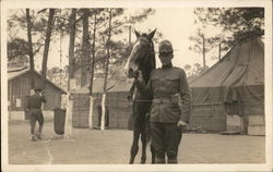 Military Man with Horse