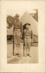 Soldiers Resembling Mutt & Jeff - Short and Tall