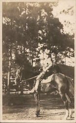 Soldier Posing on a Horse