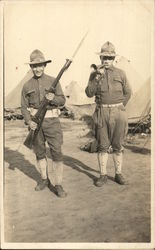 Soldiers with Bayonet & Bugle
