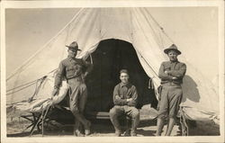 Soldiers Posing at the Entrance of a Tent