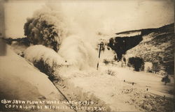 O&W Snow Plow at Work, March 3 1914