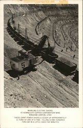 Whirling Electric Shovel at Kennecott Copper Corporation Mine Postcard