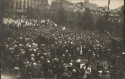 Crowd of People in Square (Europe)