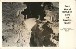 Aerial View of Boulder Dam and Powerhouse