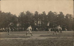 Men playing baseball