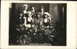Portrait of Group of Girls in Costume