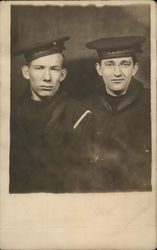 Portrait of 2 Sailors from USS Nebraska