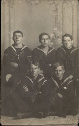 Five Young Sailors Posing for a Portrait