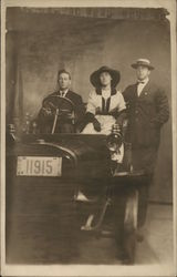 Portrait of Three People in Car