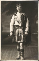 Man Posing in Scottish Regalia