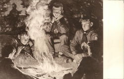 Boy Scouts 'round the campfire